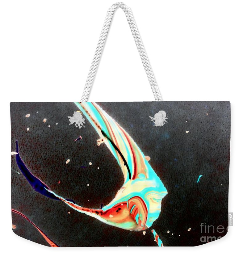 Skin Weekender Tote Bag featuring the painting Angel by Jacqueline McReynolds