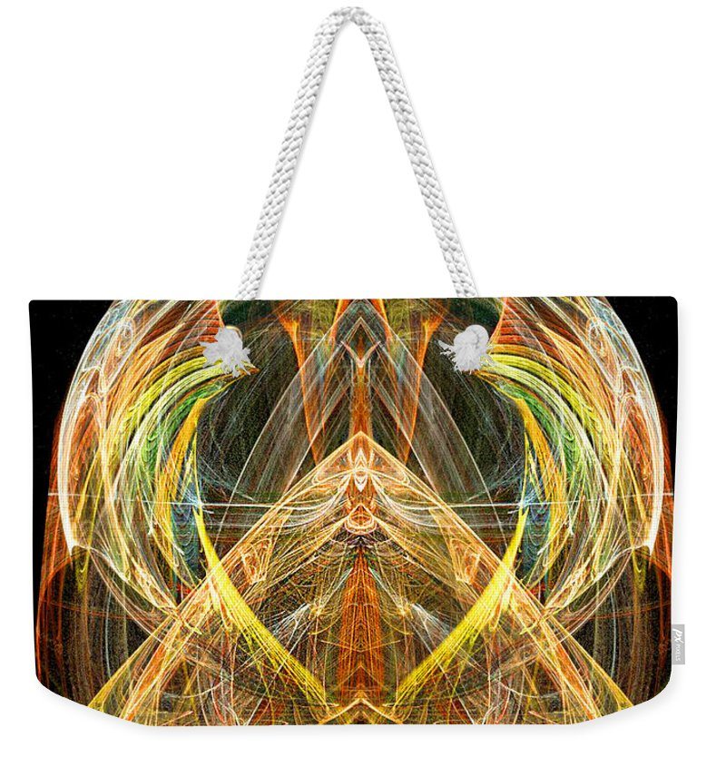 Angel Weekender Tote Bag featuring the digital art Angel Of Transformation And Change by Diana Haronis