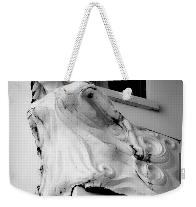 Angel Weekender Tote Bag featuring the photograph Angel Out The Window by The Artist Project