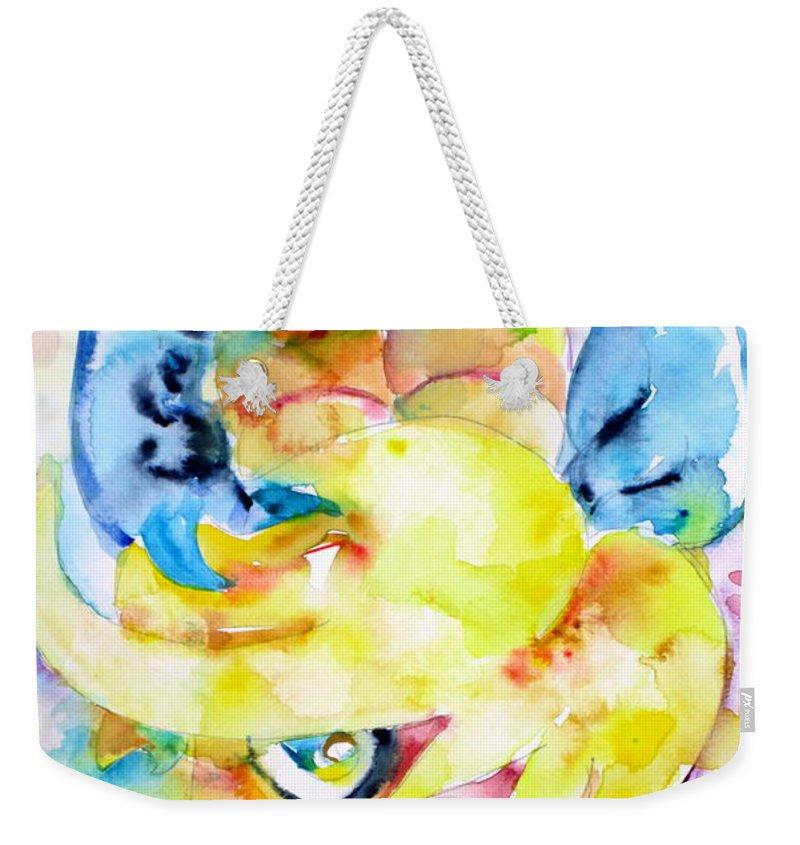 Angel Weekender Tote Bag featuring the painting Angel Sala Bin by Fabrizio Cassetta