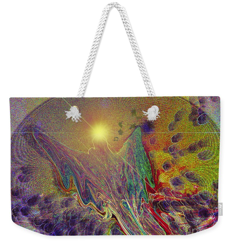 Digital Art.whale Weekender Tote Bag featuring the digital art Angel Taking Flight by Alison Caltrider