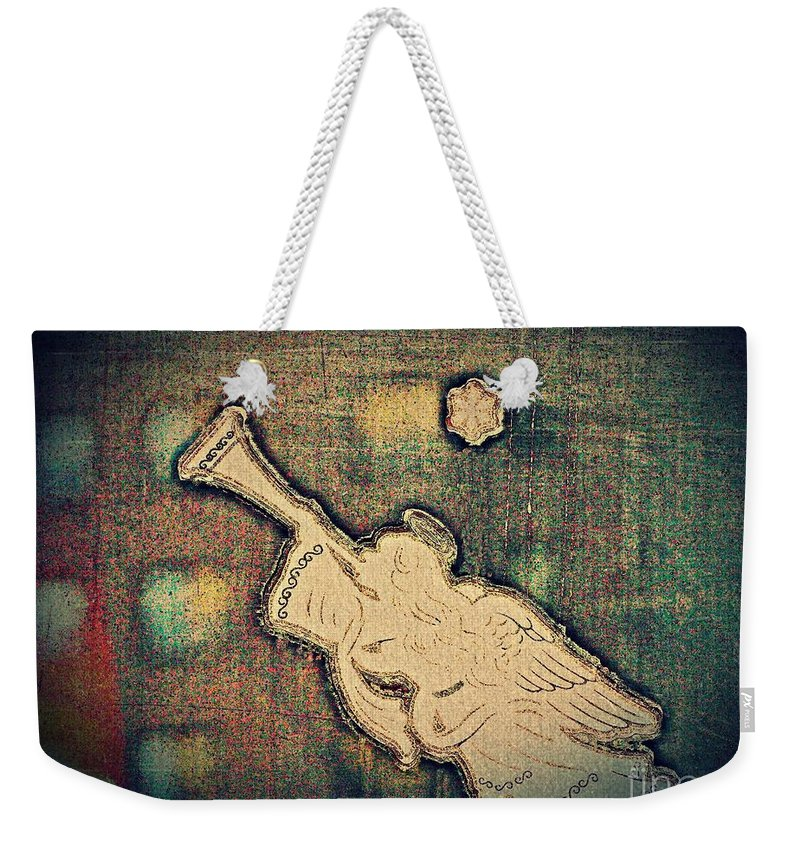 Angel Weekender Tote Bag featuring the photograph Angel Trumpeter by Sarah Loft