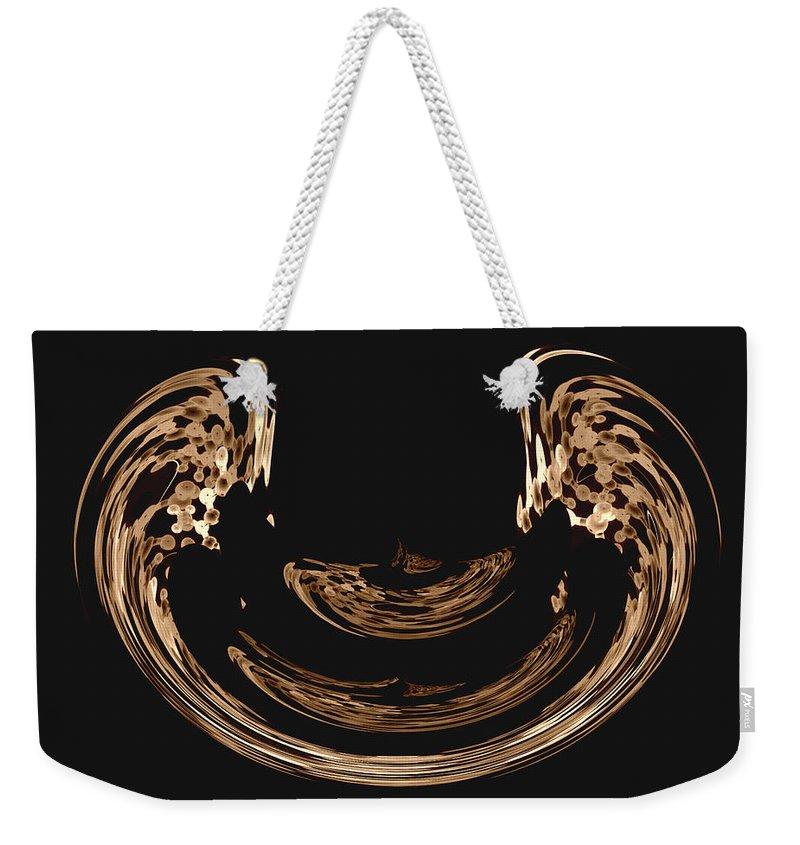 Modern Abstract Weekender Tote Bag featuring the painting Angell Wings Digital Art by Georgeta Blanaru