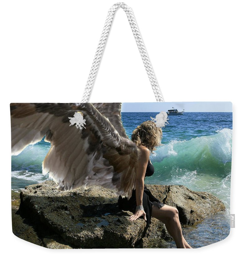 Alex-acropolis-calderon Weekender Tote Bag featuring the photograph Angels- I'm Watching Over You by Acropolis De Versailles