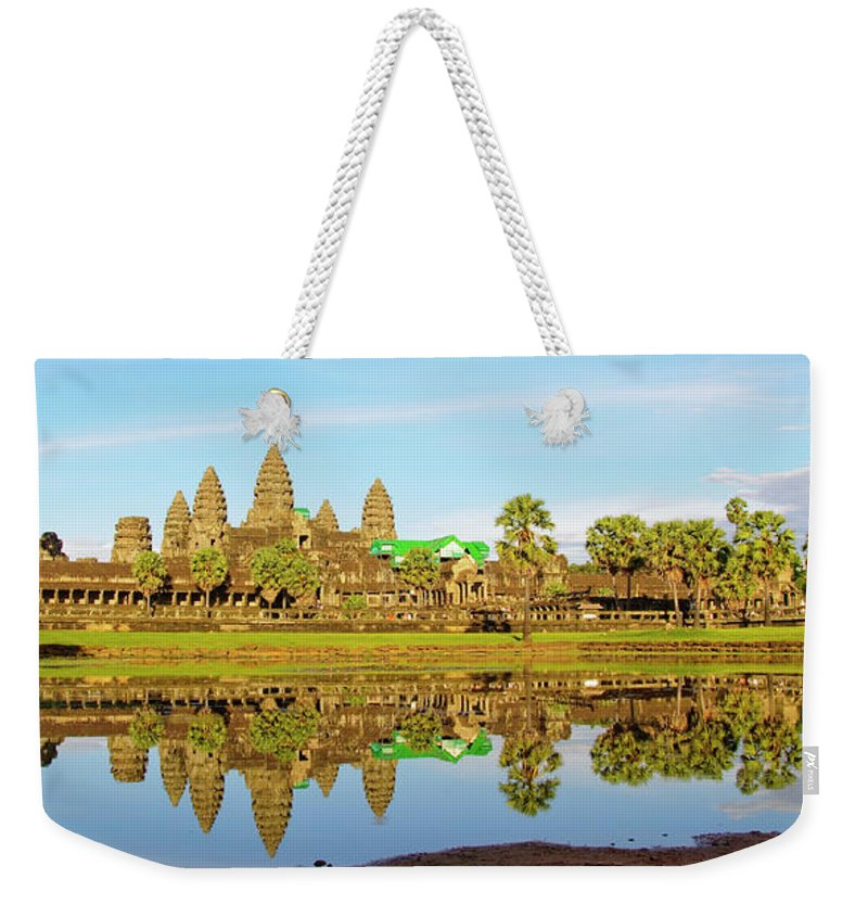 Tranquility Weekender Tote Bag featuring the photograph Angkor Wat by Photo By Ramón M. Covelo