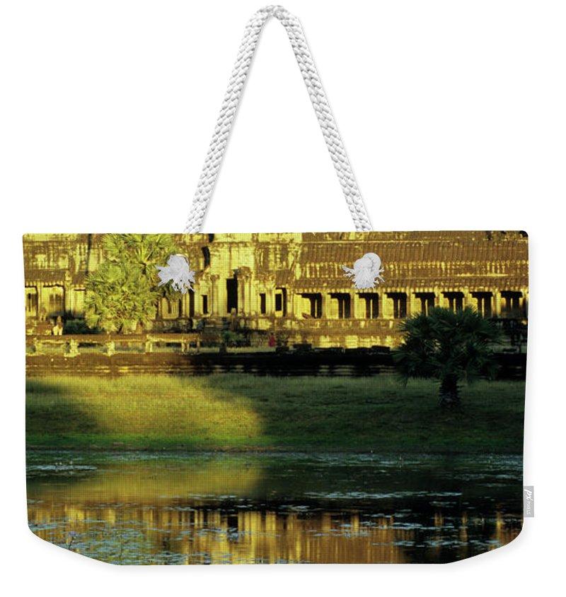 Angkor Weekender Tote Bag featuring the photograph Angkor Wat Reflections 02 by Rick Piper Photography
