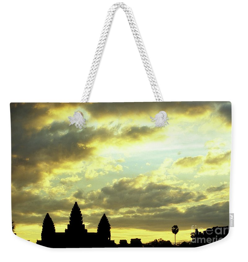 Angkor Wat Weekender Tote Bag featuring the photograph Angkor Wat Sunrise 03 by Rick Piper Photography