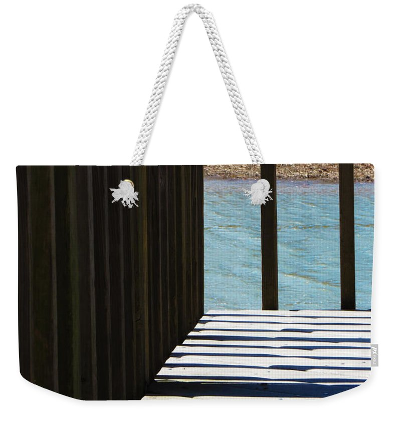 Shadow Weekender Tote Bag featuring the photograph Angles And Shadows by Shawna Rowe