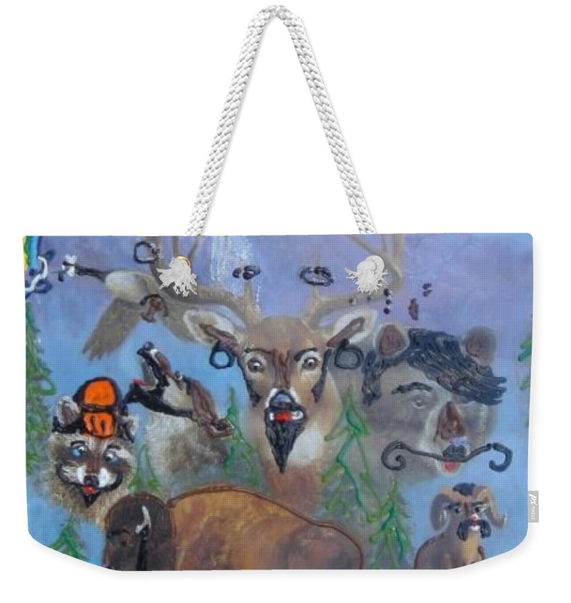 Dear Weekender Tote Bag featuring the painting Animal Equality by Lisa Piper