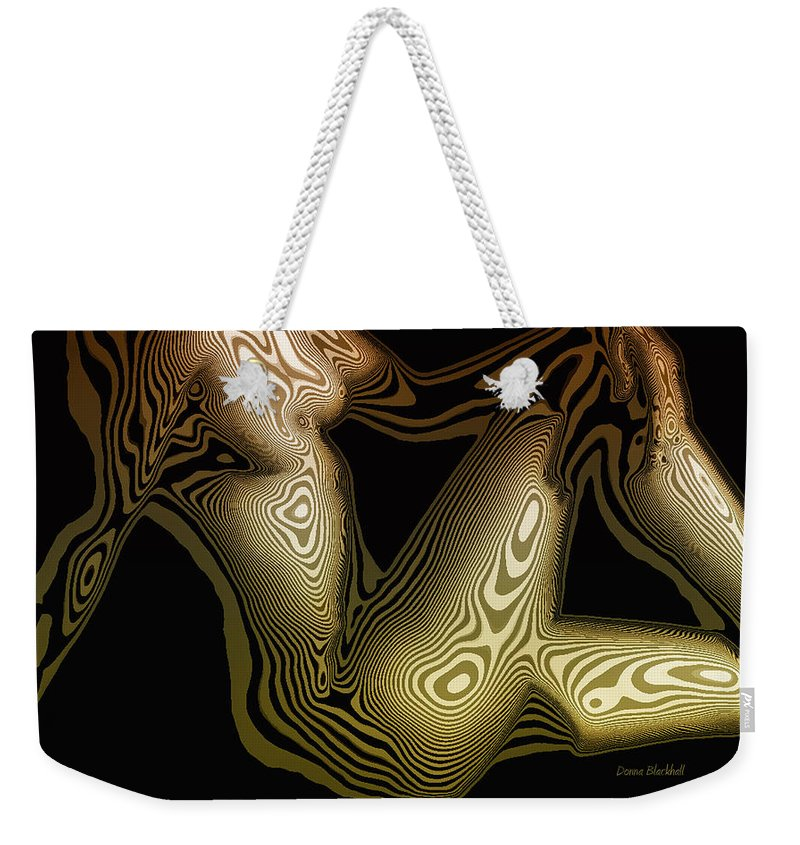 Woman Weekender Tote Bag featuring the digital art Animal Magnetism by Donna Blackhall