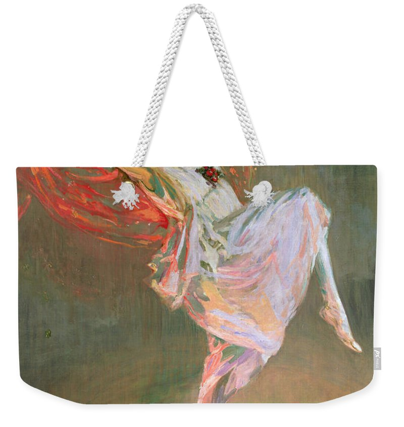 Bacchante Weekender Tote Bag featuring the painting Anna Pavlova, 1910 by Sir John Lavery