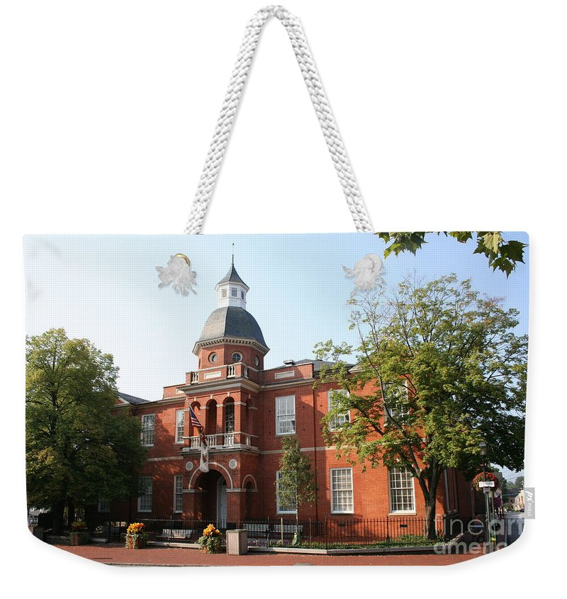 House Weekender Tote Bag featuring the photograph Annapolis - County House by Christiane Schulze Art And Photography