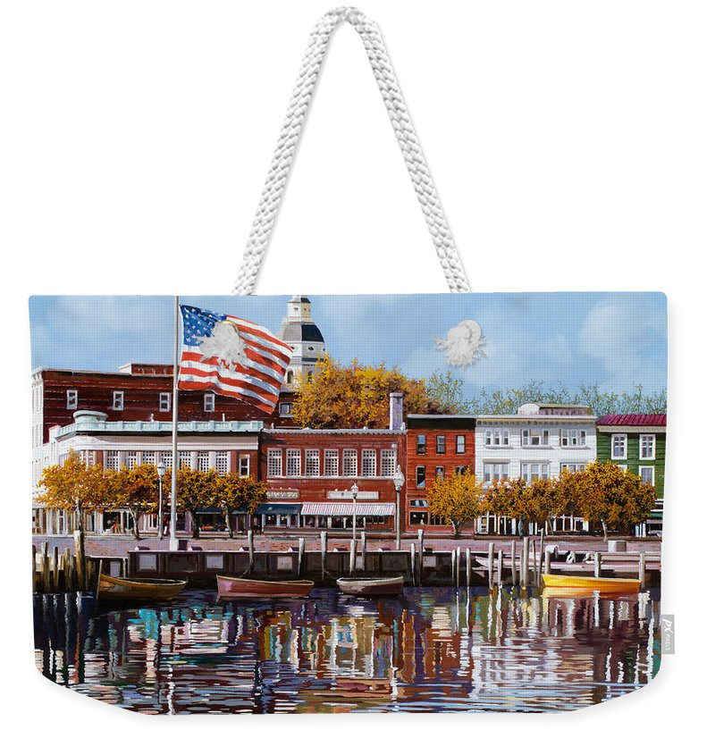 Annapolis Weekender Tote Bag featuring the painting Annapolis by Guido Borelli