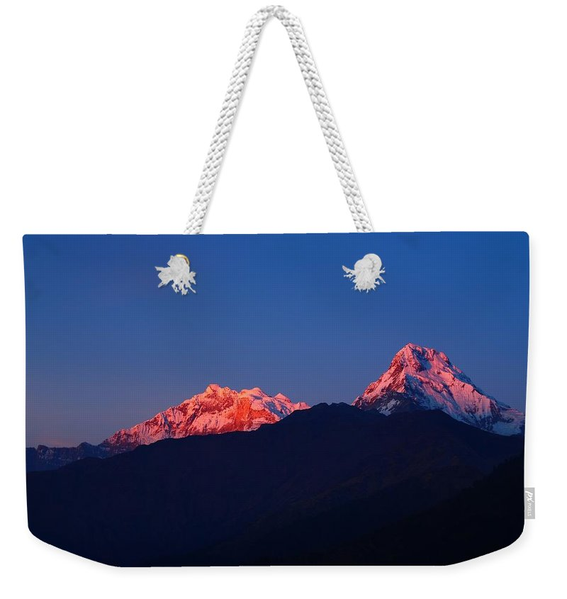 Annapurna Weekender Tote Bag featuring the photograph Annapurna South Massif by FireFlux Studios