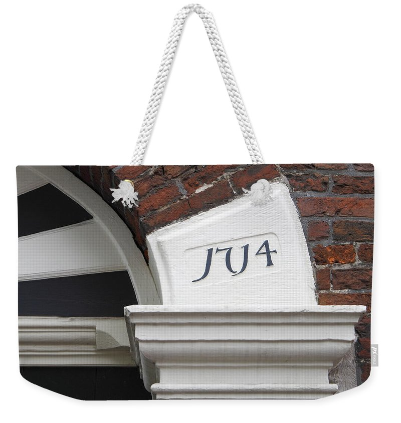 Old Building 1714 Architecture Photograph Weekender Tote Bag featuring the photograph Anno 1714 by Steve K