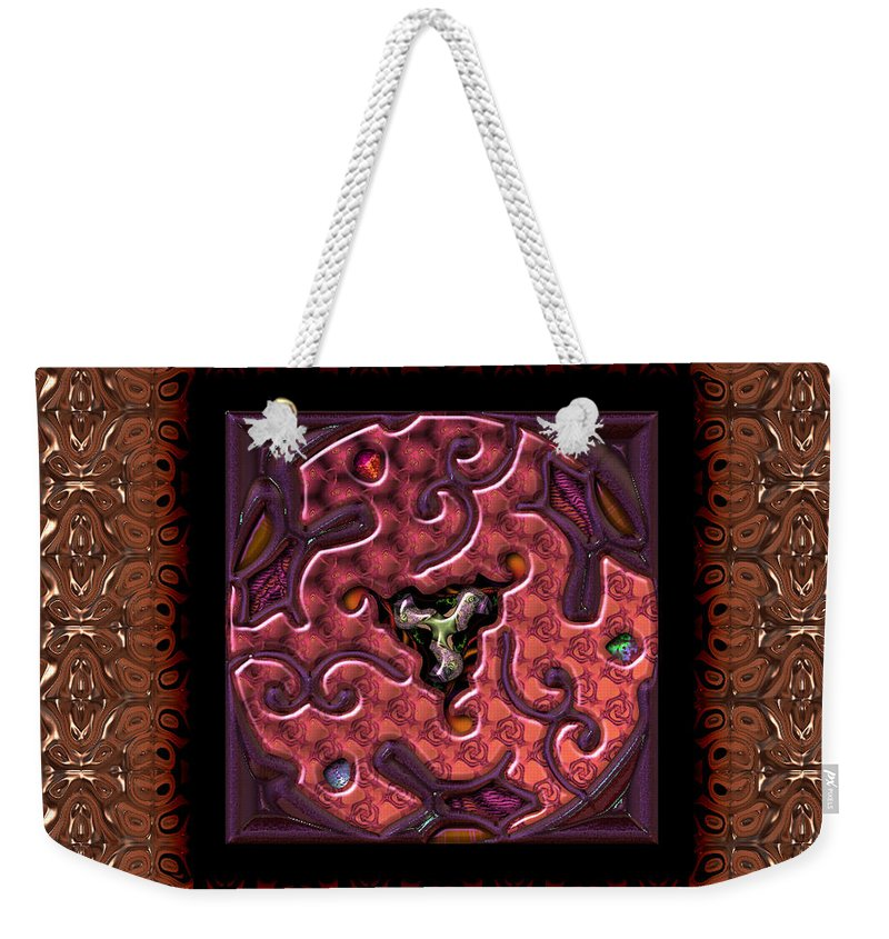 Abstract: Color; Abstract: Geometric Weekender Tote Bag featuring the digital art Annuals Poppies by Ann Stretton