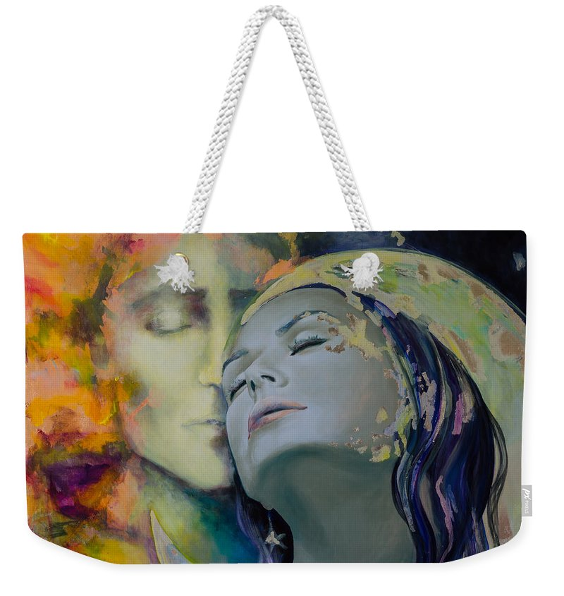 Art Weekender Tote Bag featuring the painting Another Kind Of Rhapsody by Dorina Costras
