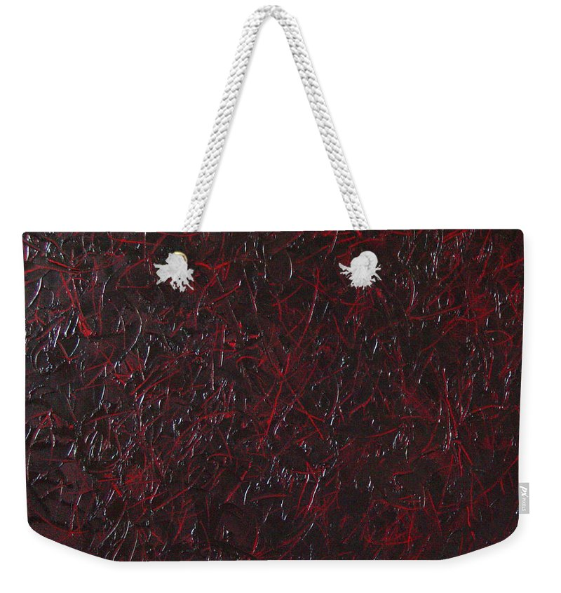 Abstract Weekender Tote Bag featuring the painting Another Shedding by Dean Triolo