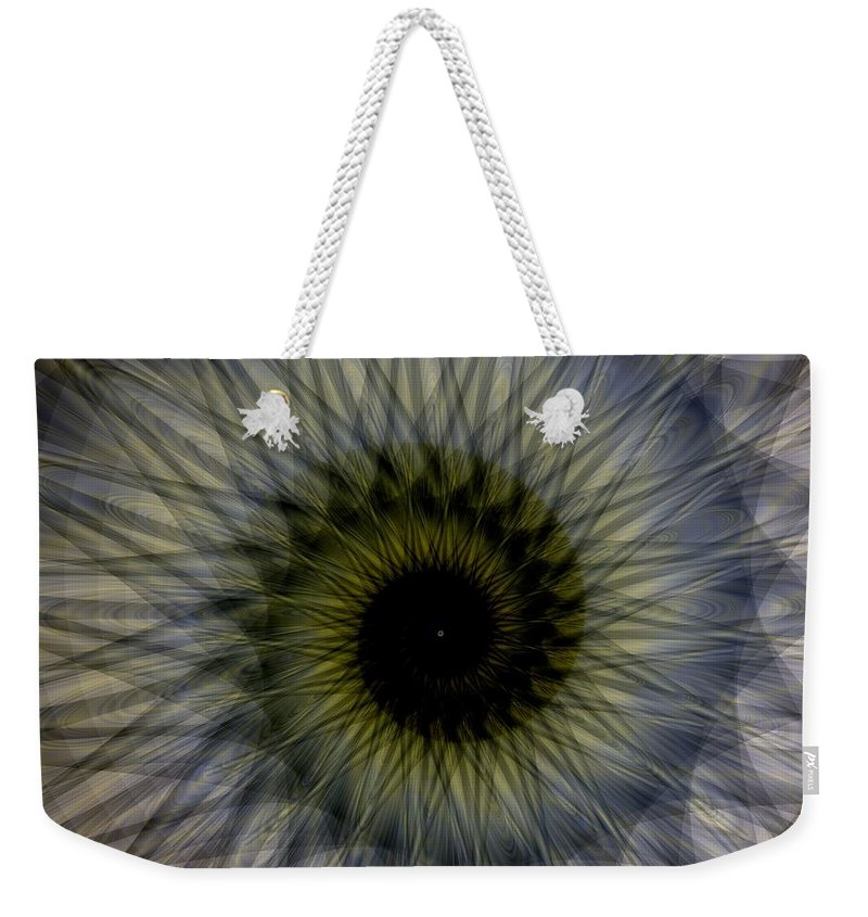 Another Spiral Weekender Tote Bag featuring the digital art Another Spiral by Elizabeth McTaggart