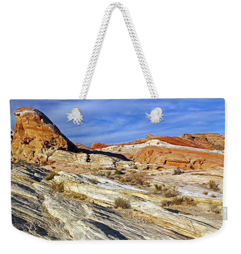 Nevada Weekender Tote Bag featuring the photograph Another World by Jennifer Robin