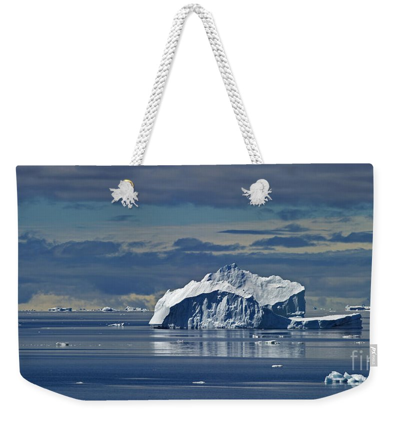 Festblues Weekender Tote Bag featuring the photograph Antarctica.. by Nina Stavlund