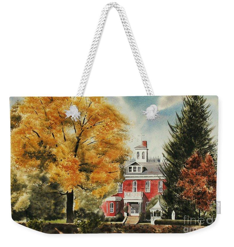 Antebellum Autumn Ironton Missouri Weekender Tote Bag featuring the painting Antebellum Autumn Ironton Missouri by Kip DeVore