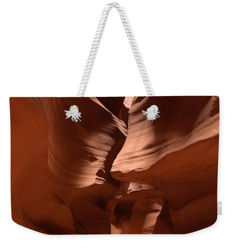 Antelope Canyon Weekender Tote Bag featuring the photograph Antelope Canyon 11 by Richard J Cassato