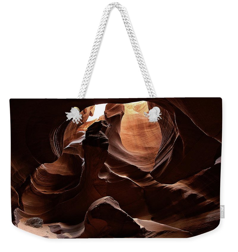 Antelope Weekender Tote Bag featuring the photograph Antelope Canyon 13 by Ingrid Smith-Johnsen