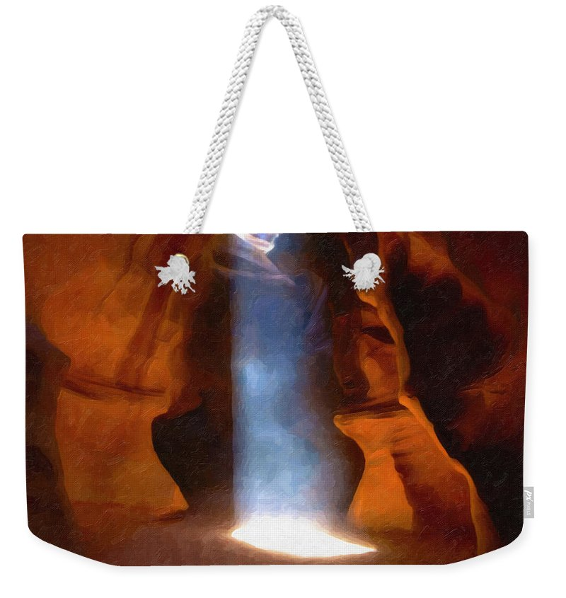 Antelope Weekender Tote Bag featuring the photograph Antelope Canyon 17 by Ingrid Smith-Johnsen