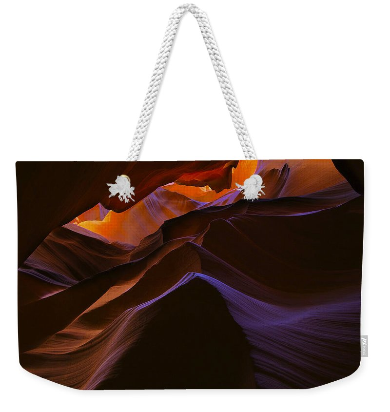 Antelope Weekender Tote Bag featuring the photograph Antelope Canyon 23 by Ingrid Smith-Johnsen