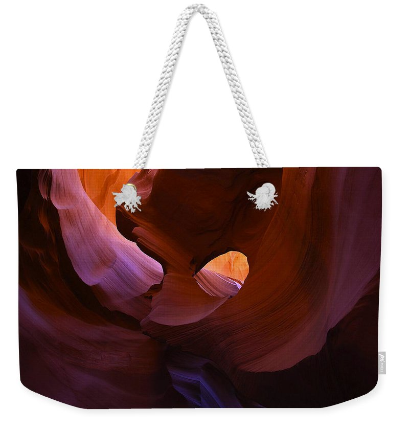 Antelope Weekender Tote Bag featuring the photograph Antelope Canyon 10 by Ingrid Smith-Johnsen