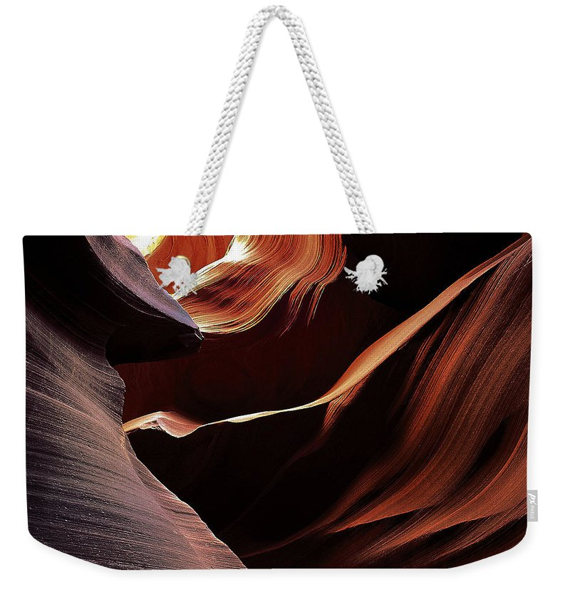 Antelope Weekender Tote Bag featuring the photograph Antelope Canyon 7 by Ingrid Smith-Johnsen