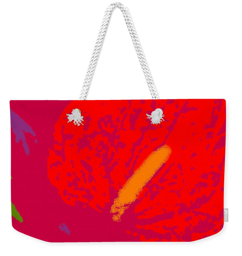 Antherium Weekender Tote Bag featuring the photograph Antherium by James Temple