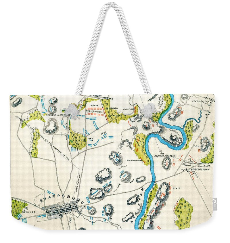 1862 Weekender Tote Bag featuring the photograph Antietam, Maryland, 1862 by Granger