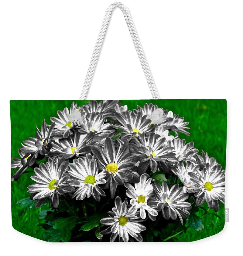 Flowers Weekender Tote Bag featuring the photograph Antique Flowers by Frozen in Time Fine Art Photography