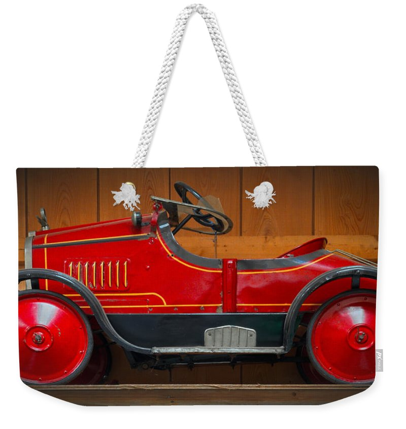 Antique Weekender Tote Bag featuring the photograph Antique Pedal Car 2 by Dave Mills