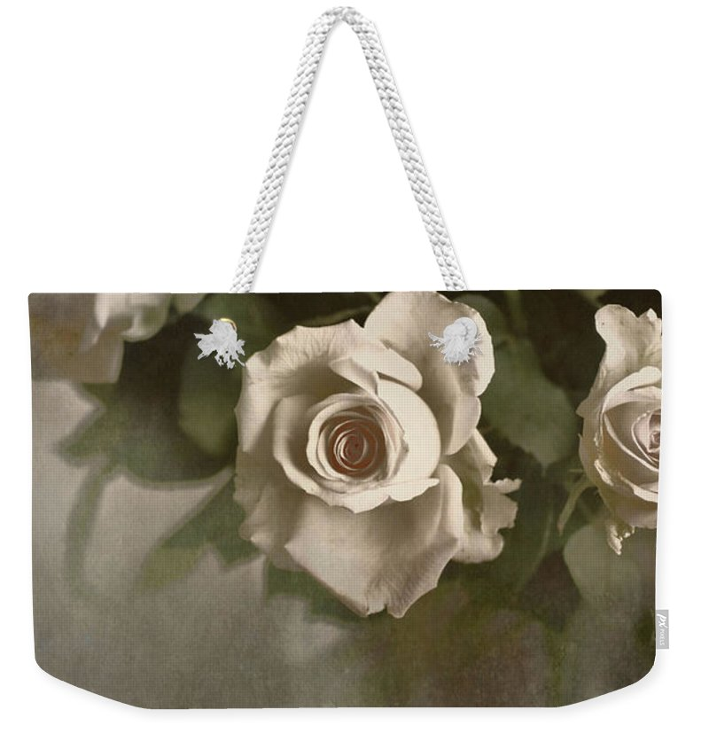 Roses Weekender Tote Bag featuring the photograph Antique Roses by Annie Snel