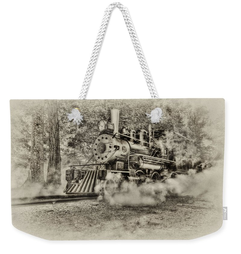 Train Weekender Tote Bag featuring the photograph Antique Train by Bill Wakeley