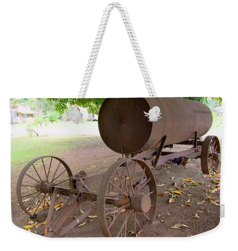 Water Tank Weekender Tote Bag featuring the photograph Antique Water Tank - No 1 by Mary Deal
