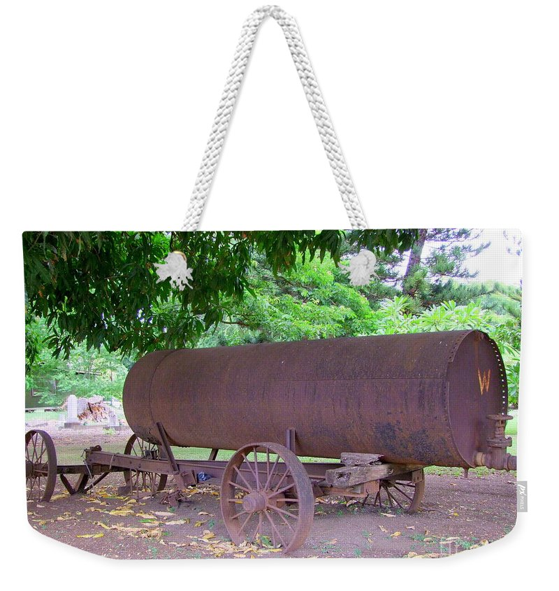 Water Tank Weekender Tote Bag featuring the photograph Antique Water Tank - No 2 by Mary Deal