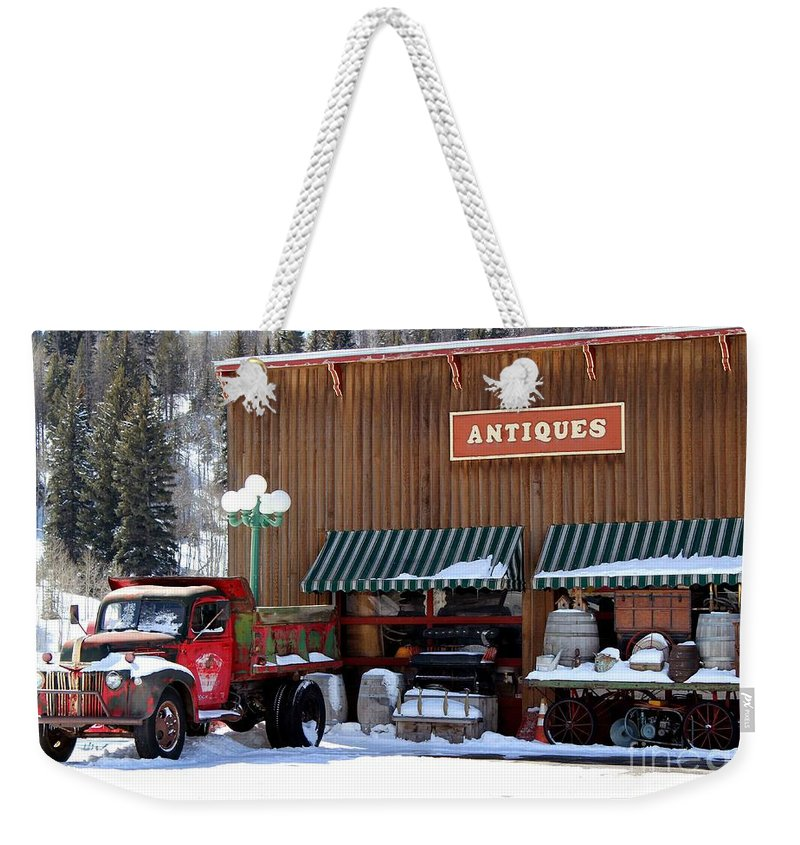 Antiques Weekender Tote Bag featuring the photograph Antiques In The Mountains by Fiona Kennard
