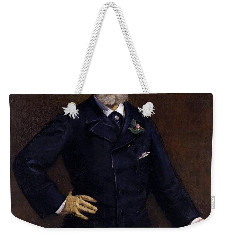 1880 Weekender Tote Bag featuring the painting Antonin Proust by Edouard Manet