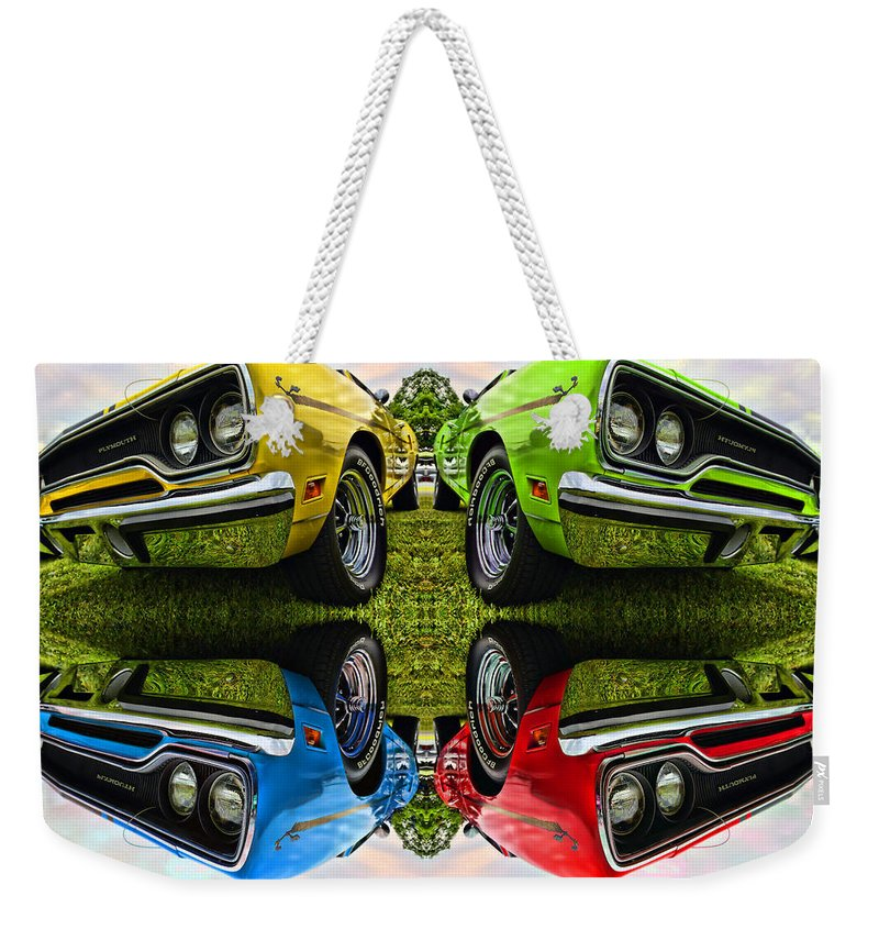 1970 Weekender Tote Bag featuring the photograph Any Flavor You Like by Gordon Dean II