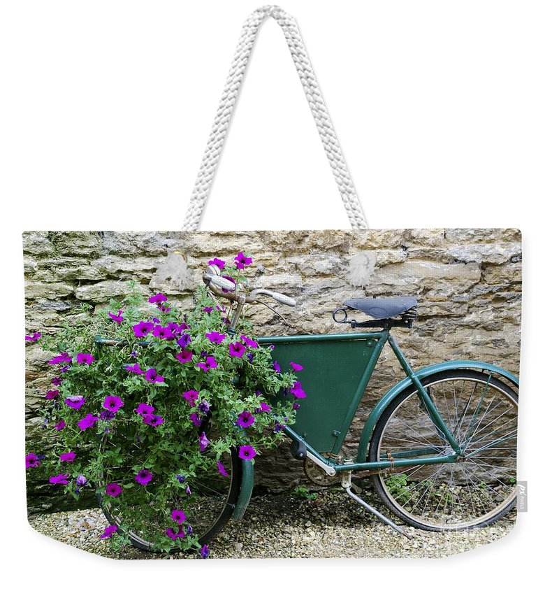 Bike Weekender Tote Bag featuring the photograph Anywhere by Wendy Wilton