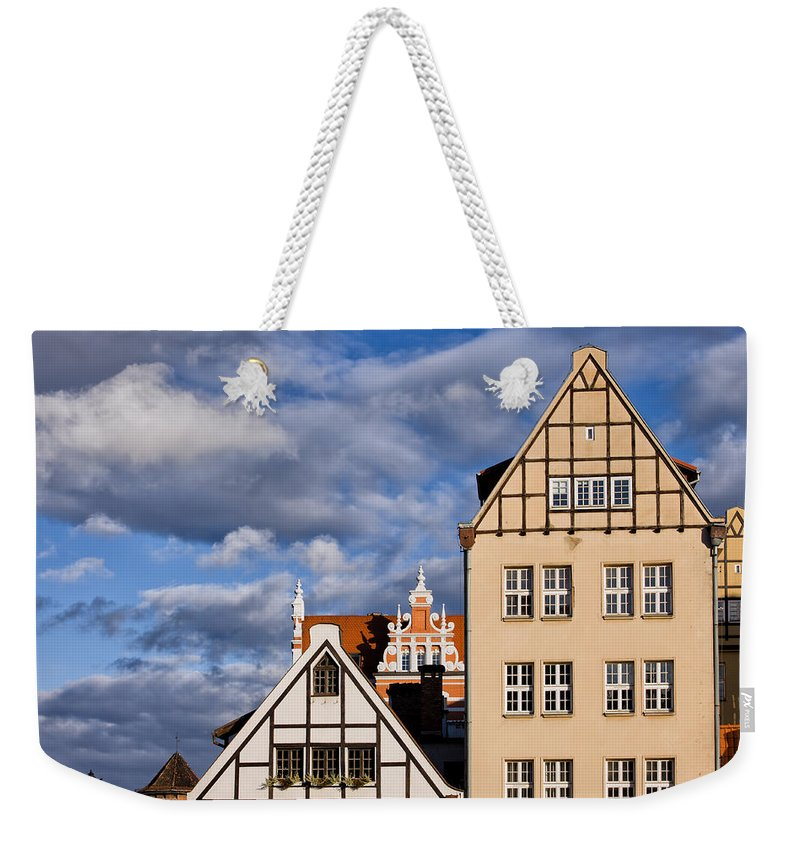 Gdansk Weekender Tote Bag featuring the photograph Apartment Houses In Gdansk by Artur Bogacki