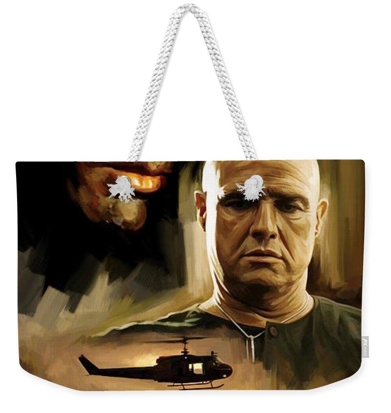 Apocalypse Now Paintings Weekender Tote Bag featuring the painting Apocalypse Now Artwork by Sheraz A