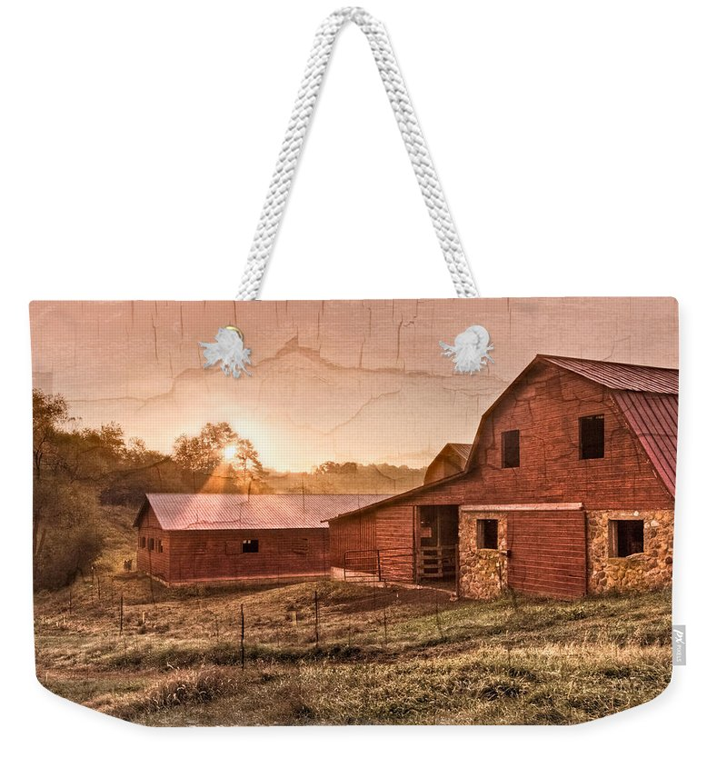 Appalachia Weekender Tote Bag featuring the photograph Appalachian Barns by Debra and Dave Vanderlaan