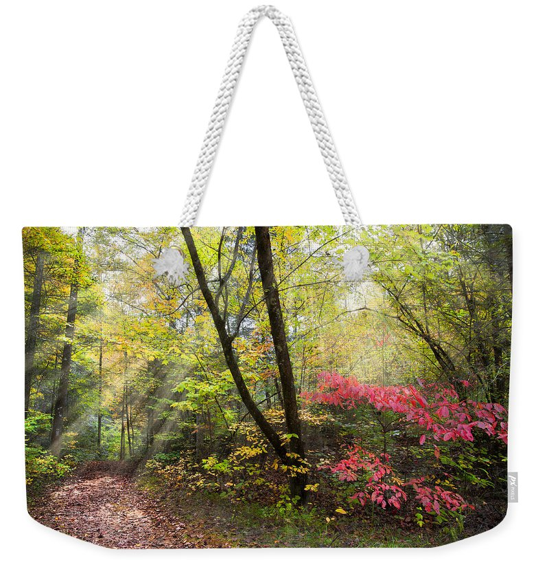 Appalachia Weekender Tote Bag featuring the photograph Appalachian Mountain Trail by Debra and Dave Vanderlaan