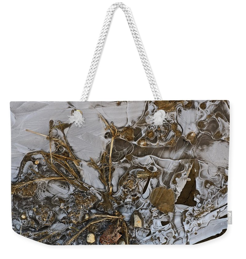 Ice Weekender Tote Bag featuring the photograph Apparitions On Ice by Susan Capuano
