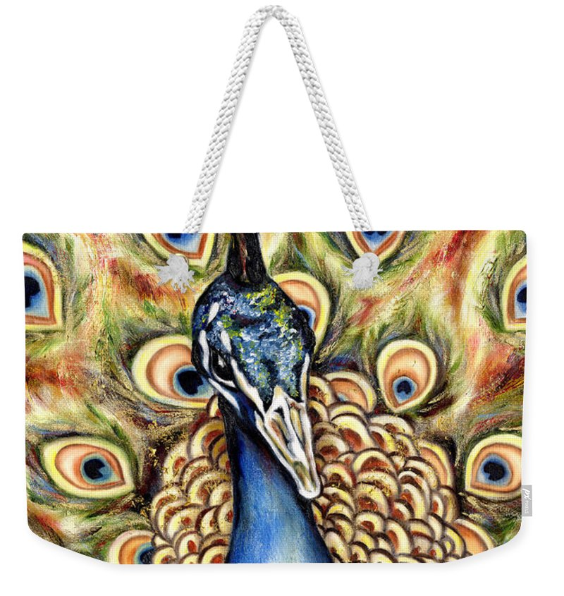 Bird Weekender Tote Bag featuring the painting Applause by Hiroko Sakai